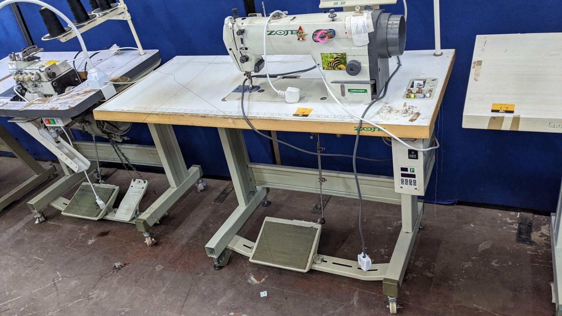 Zoje model ZJ9800A-D3B/PF lockstitch sewing machine with model WR-501 digital controller - Image 3 of 20