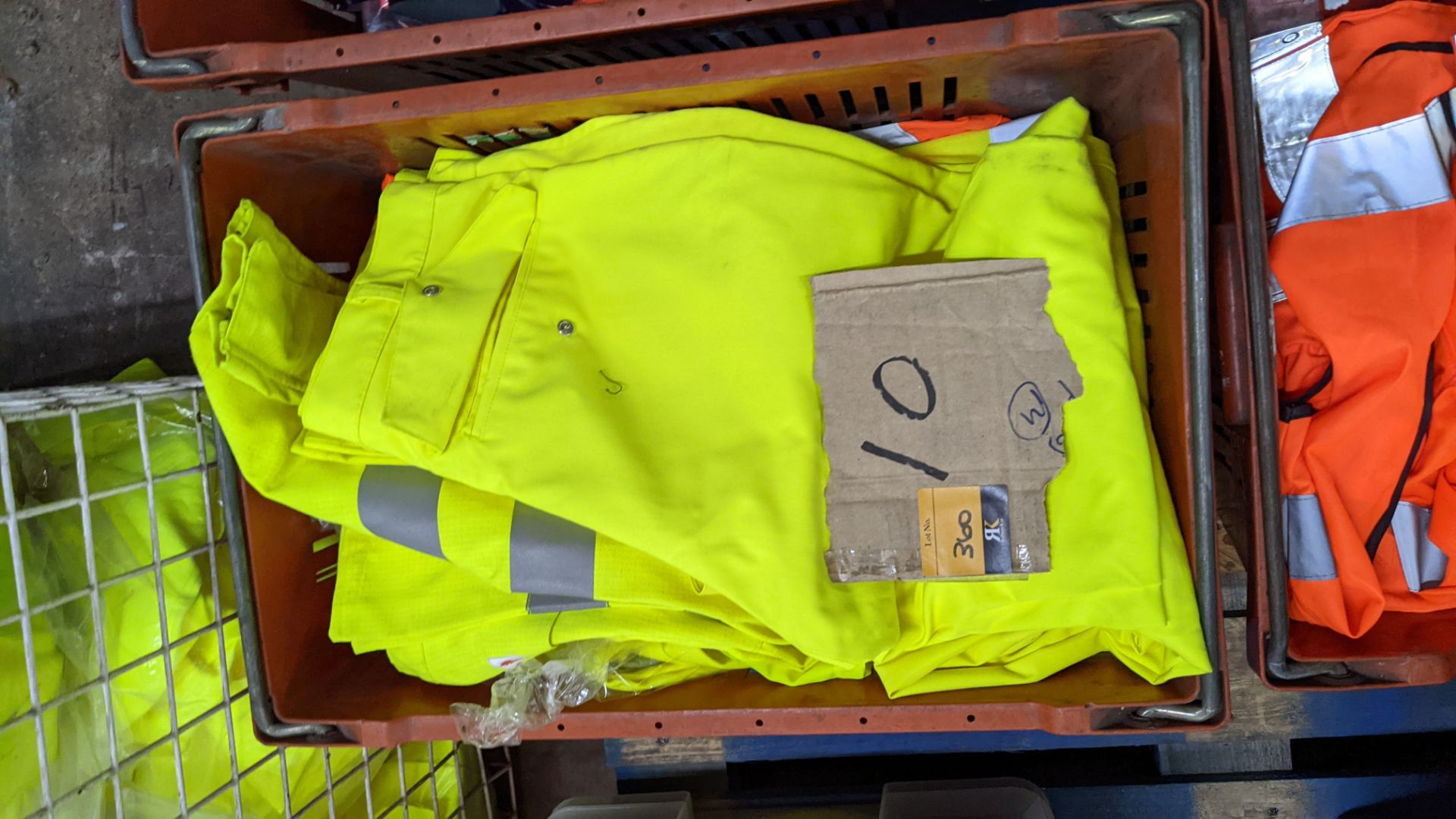10 off hi-vis trousers in yellow & orange - Image 4 of 4