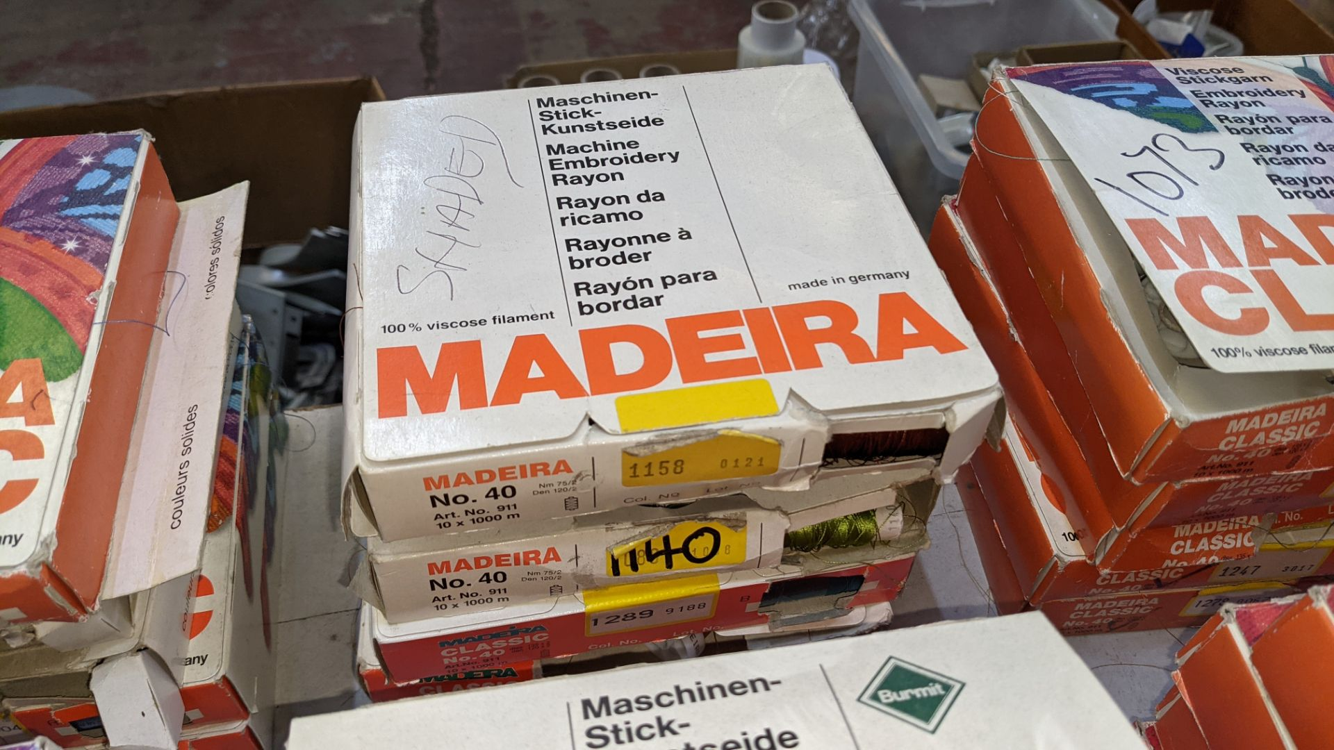 25 boxes of Madeira Classic No. 40 rayon embroidery thread - Image 8 of 13