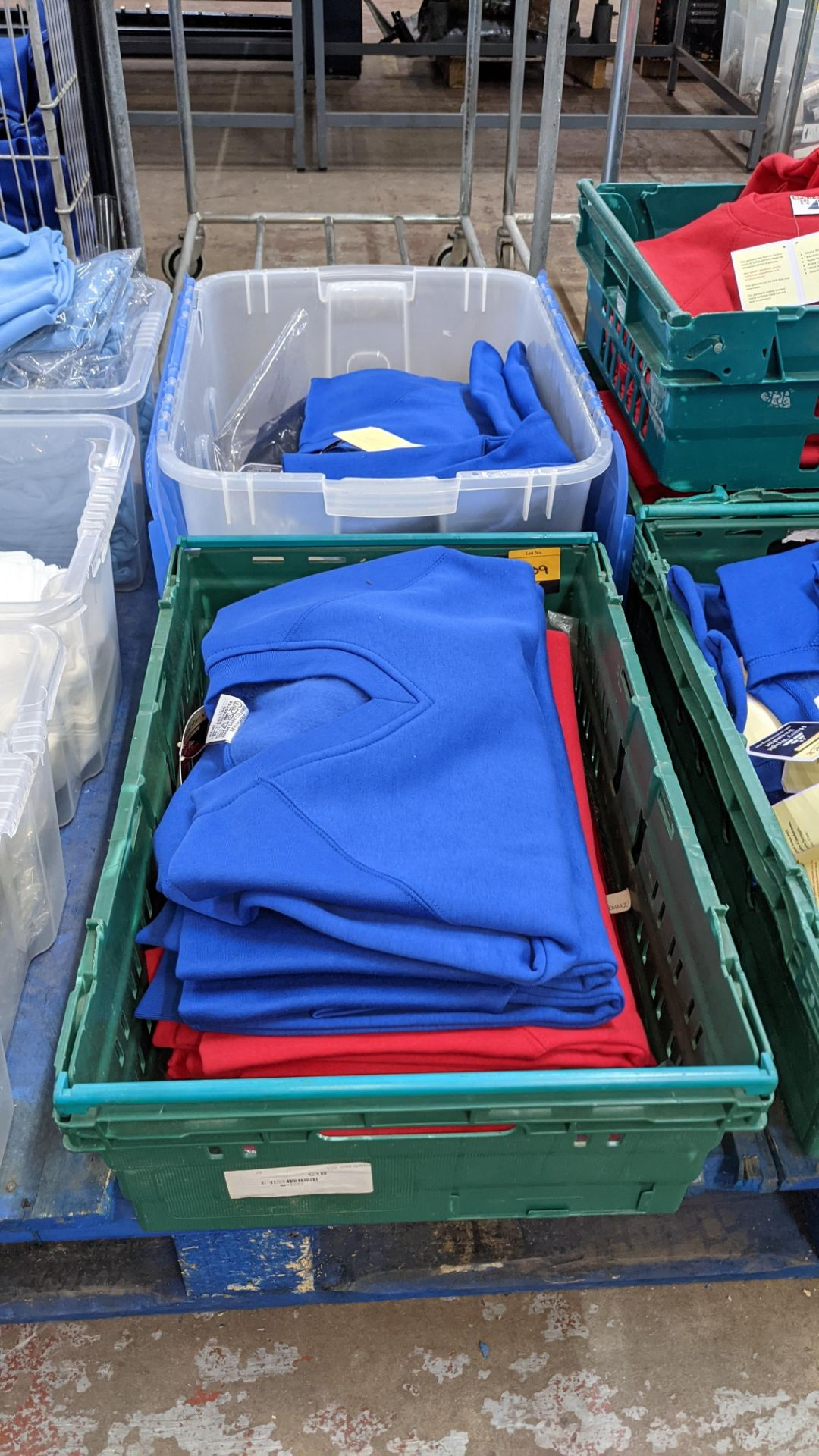 Approx 16 off Sportex children's assorted sweatshirts - the contents of 2 crates. NB crates exclude - Image 2 of 7