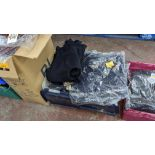 Approx 15 off children's navy cardigans - the contents of 1 crate. NB crate excluded