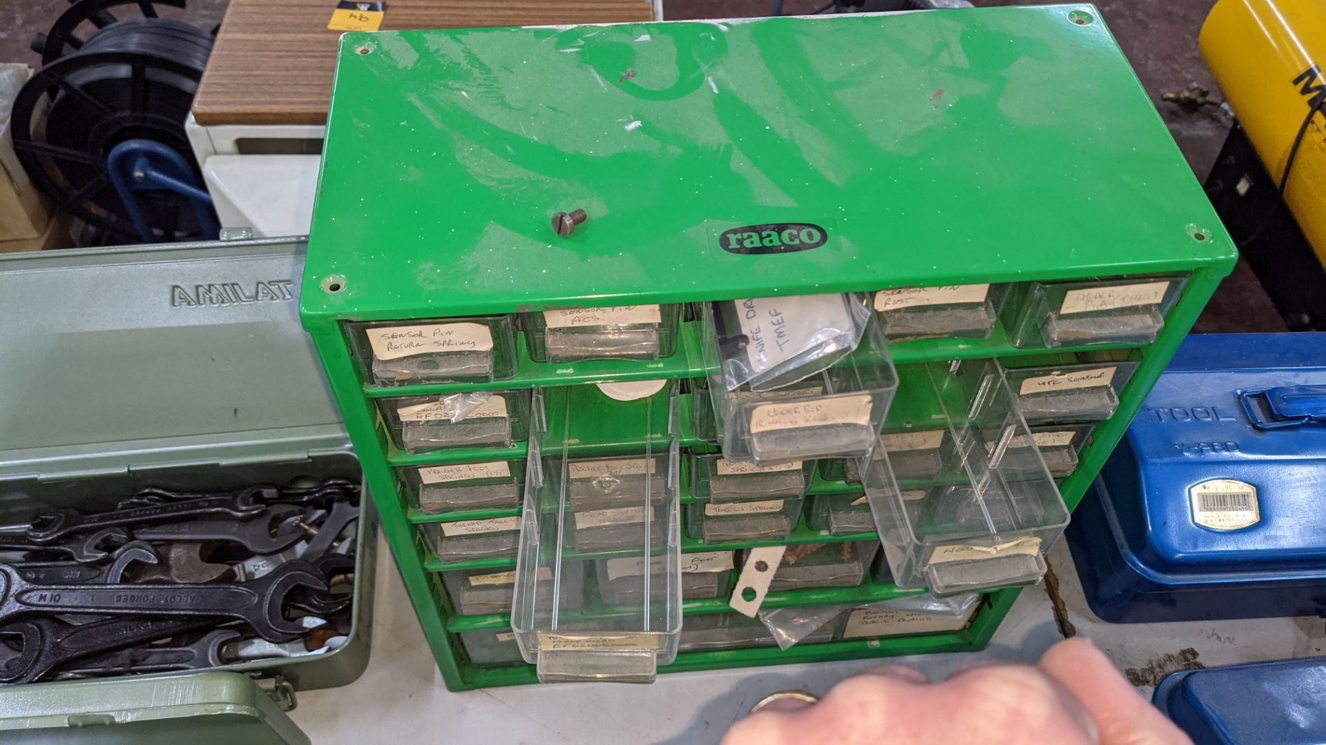 4 off mini cabinets & their contents of machinery parts & spares - Image 11 of 12