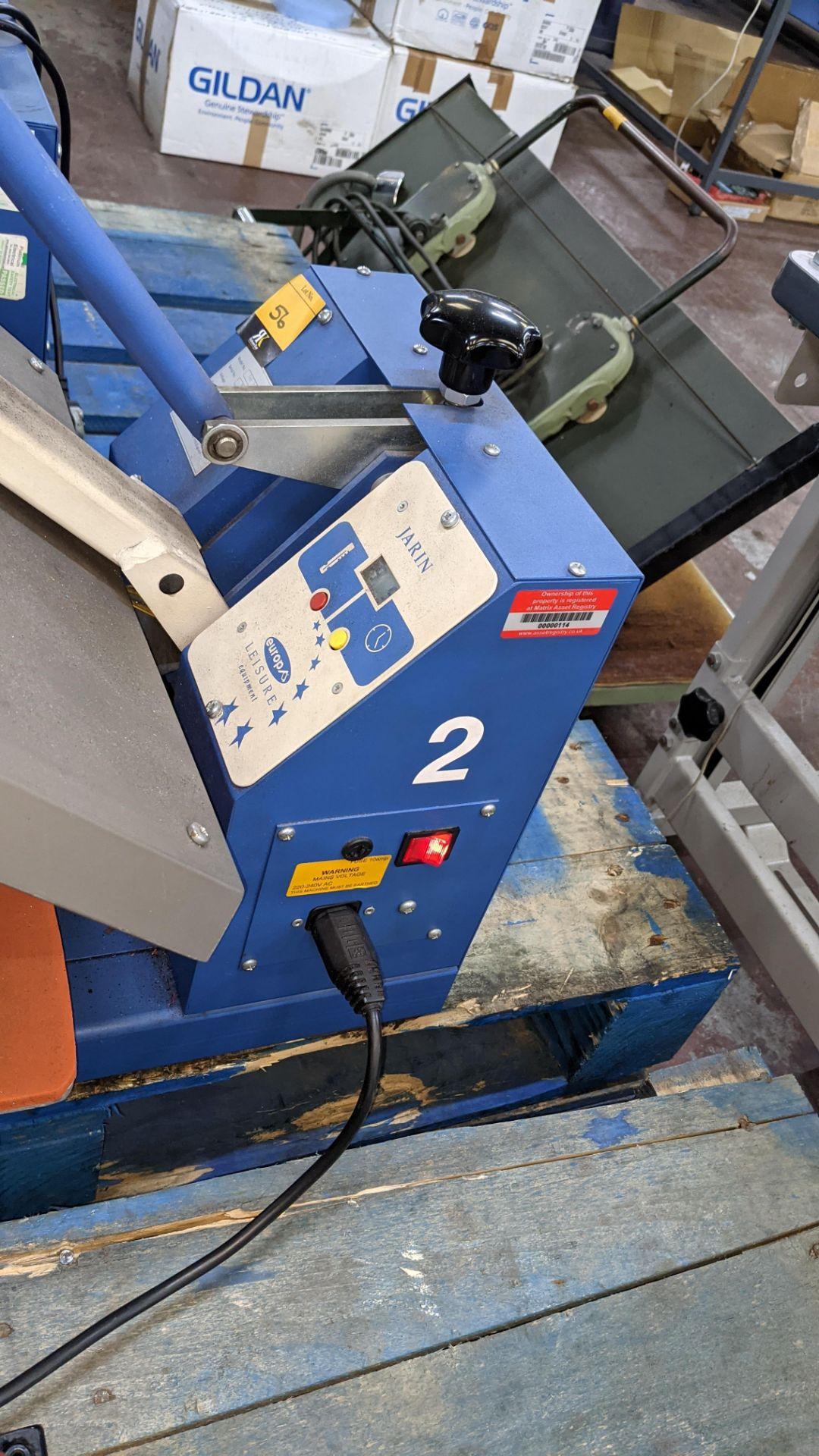 Europa Jarin benchtop heat transfer press model HF5000 - Image 8 of 13