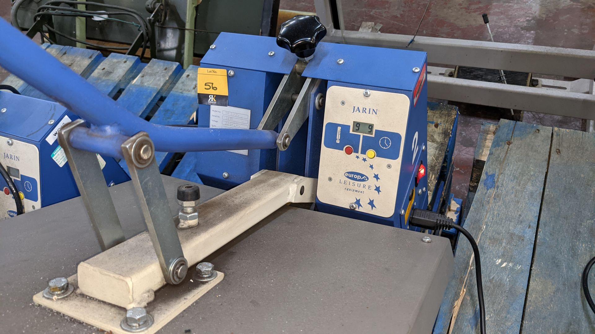 Europa Jarin benchtop heat transfer press model HF5000 - Image 7 of 13