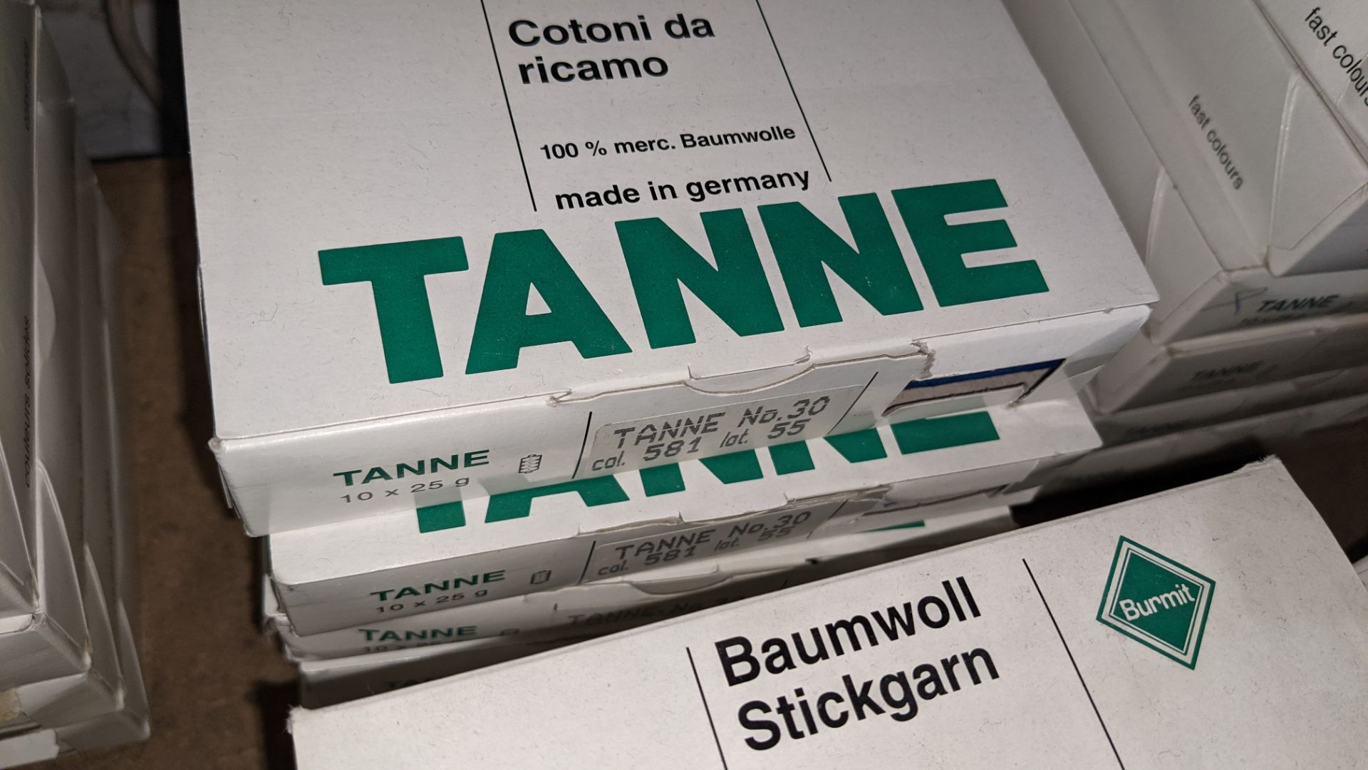 15 boxes of Madeira Tanne (Burmit) cotton embroidery thread - Image 5 of 8