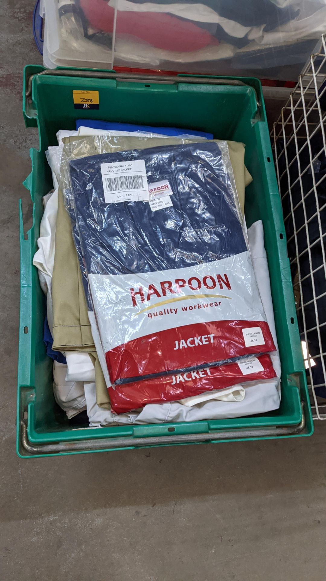 The contents of 1 crate & 1 large cage of assorted workwear jackets & similar. NB crate/cage exclu - Image 3 of 11
