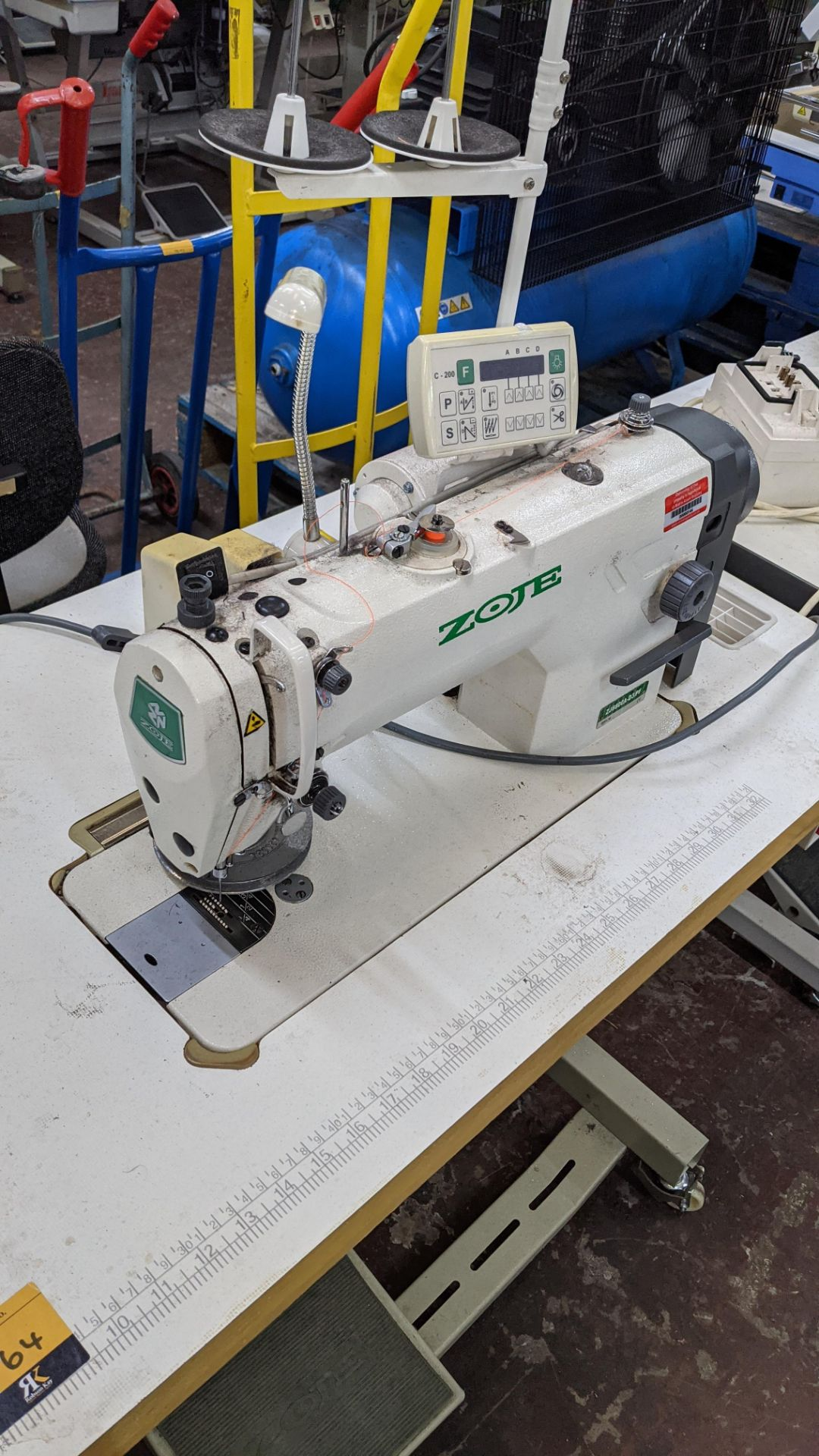 Zoje model ZJ8800A-D3B/PF sewing machine with C-200 controller - Image 13 of 16