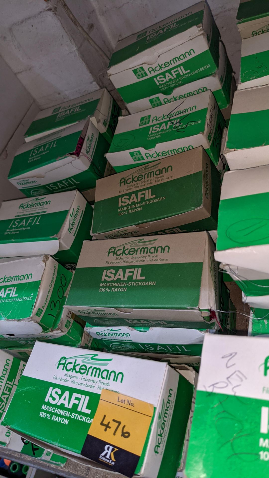 16 boxes of Ackermann Isafil viscose/rayon embroidery thread - Image 4 of 10