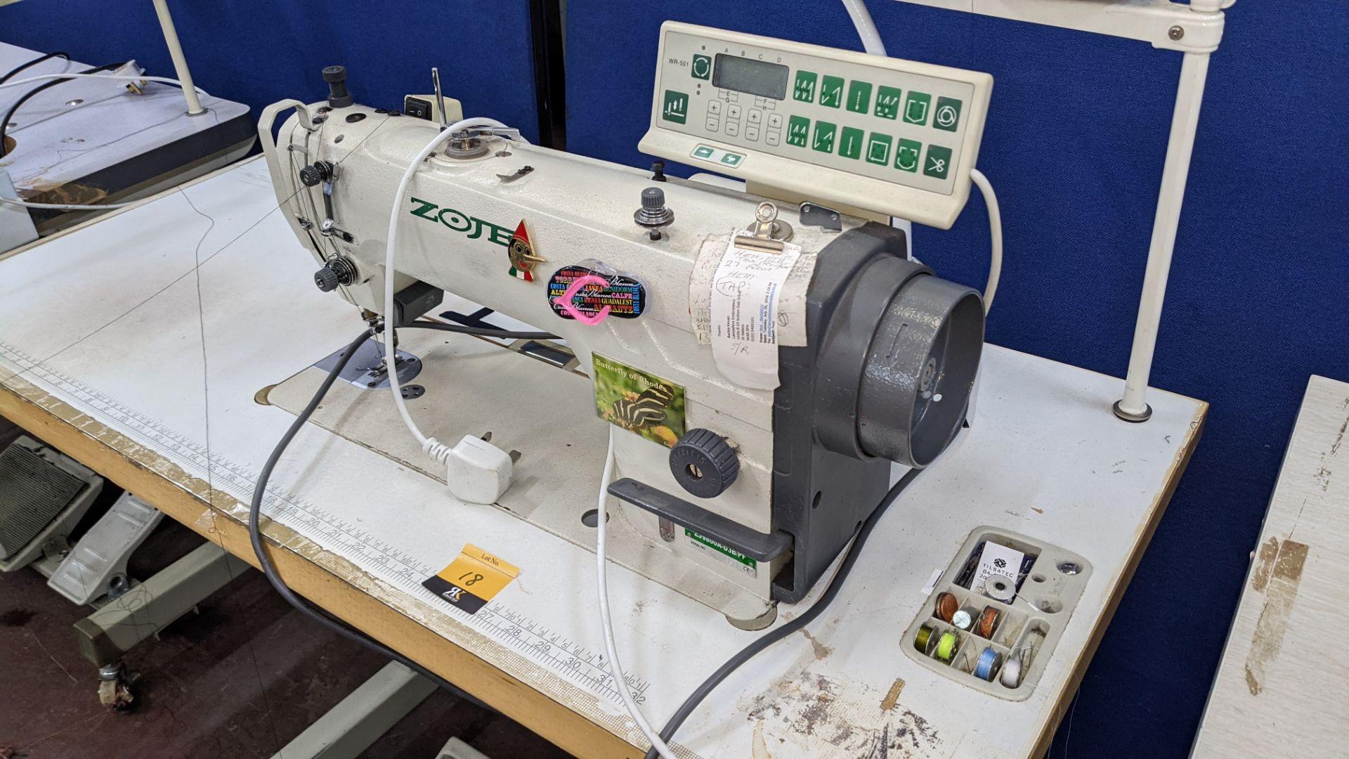 Zoje model ZJ9800A-D3B/PF lockstitch sewing machine with model WR-501 digital controller - Image 4 of 20