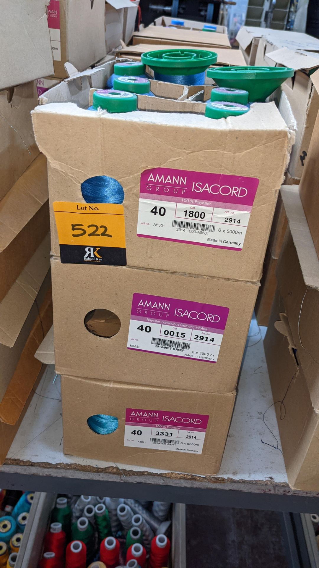 12 boxes of Ackermann Isacord (40) polyester thread - Image 3 of 10