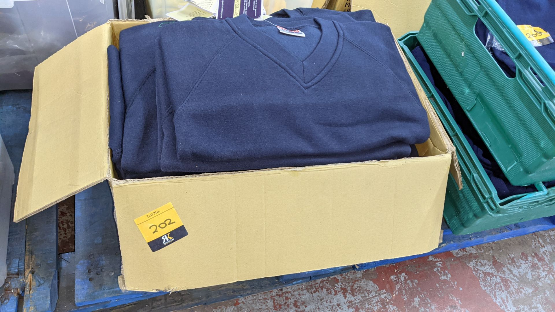 Approx 14 off Sportex children's blue V-neck sweatshirts