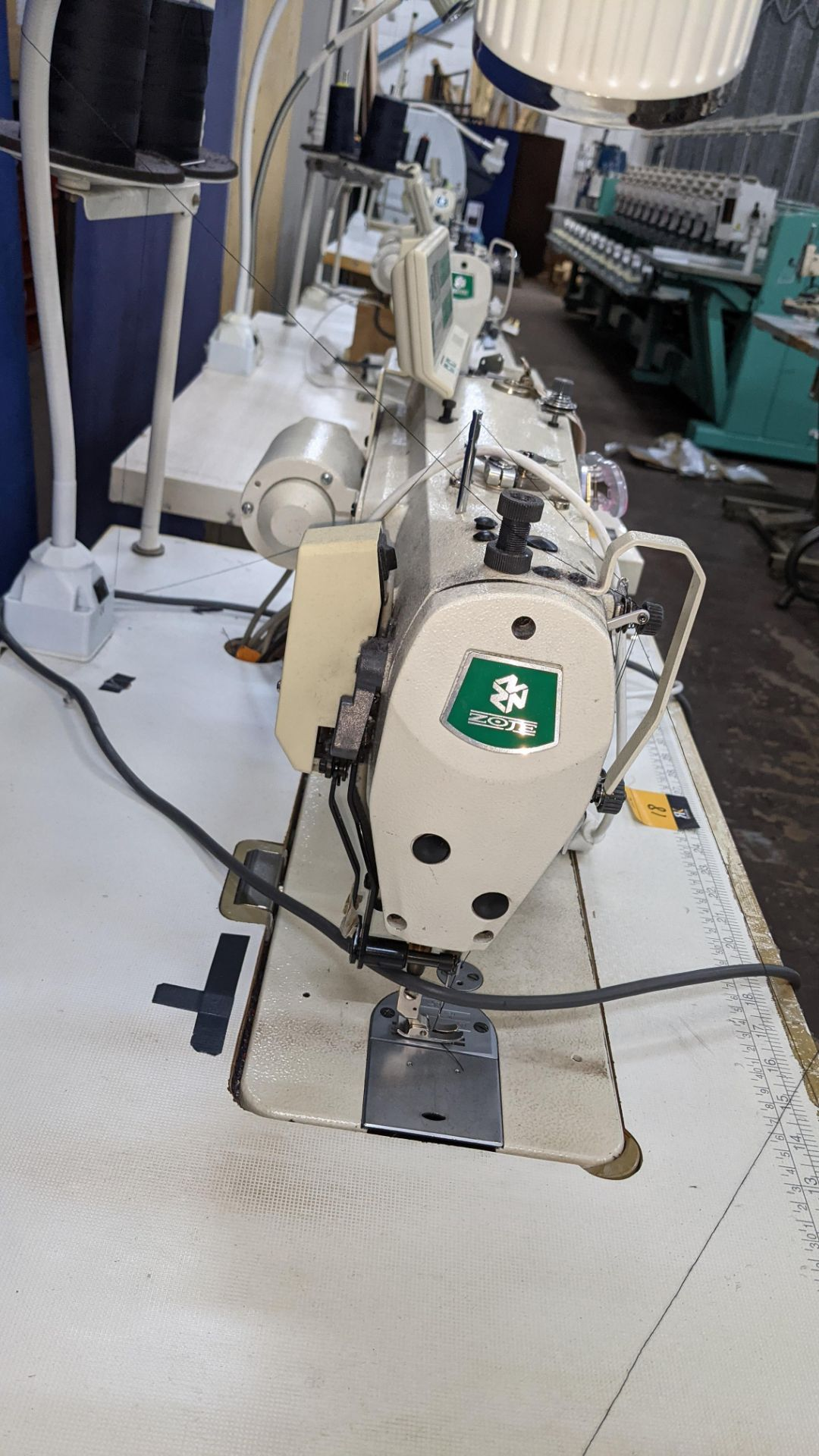 Zoje model ZJ9800A-D3B/PF lockstitch sewing machine with model WR-501 digital controller - Image 10 of 20