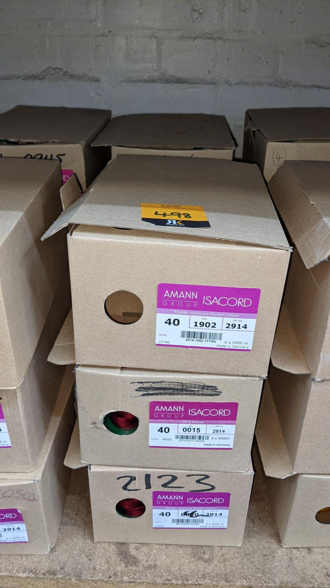 6 boxes of Ackermann & Amann Group Isacord polyester No. 40 embroidery thread - Image 2 of 6