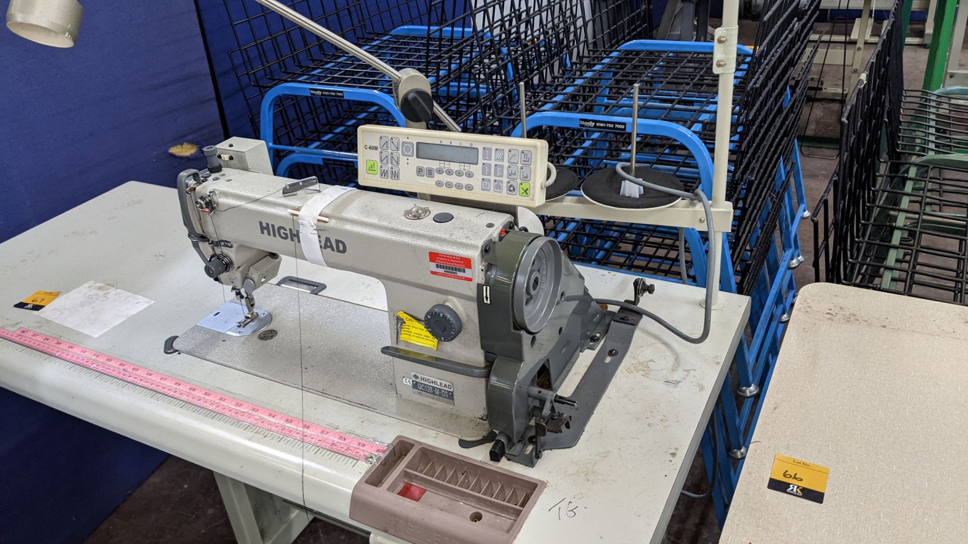 Highlead model GC128-M-D3 sewing machine with model C-60M digital controller - Image 4 of 18