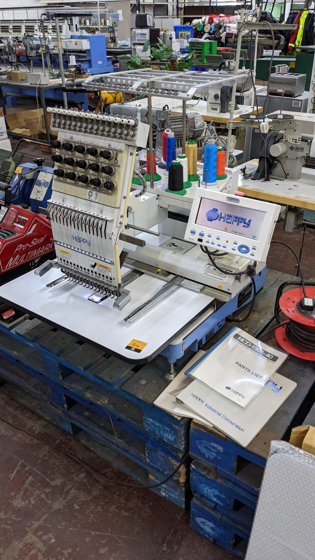 Happy single head embroidery machine model HCD-1501-40