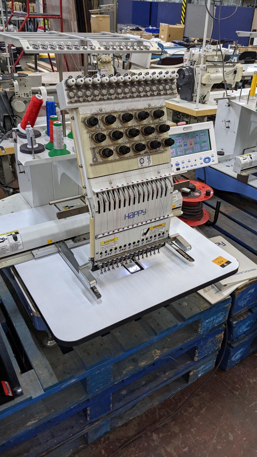 Happy single head embroidery machine model HCD-1501-40 - Image 9 of 22