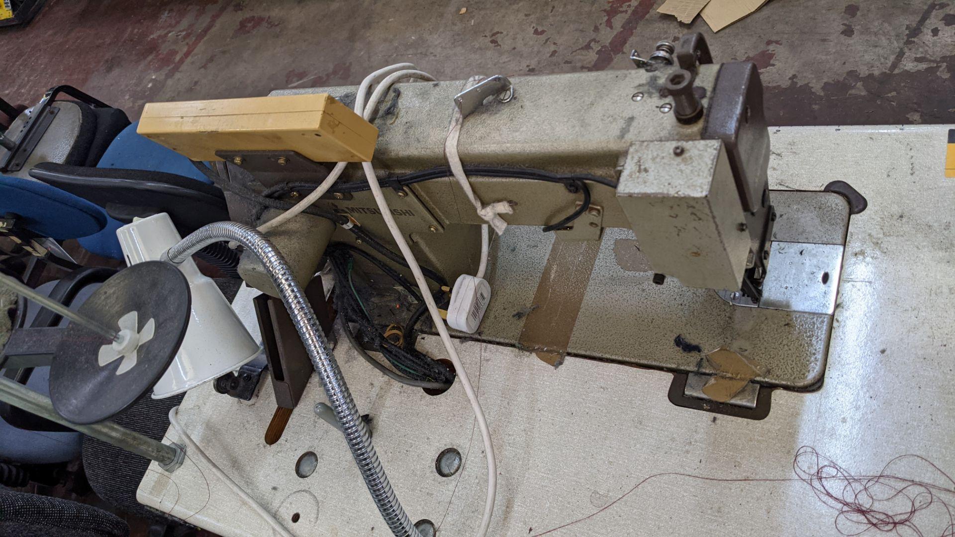 Mitsubishi LS2-180 sewing machine with Mitsubishi LF-C8 digital controller - Image 9 of 12