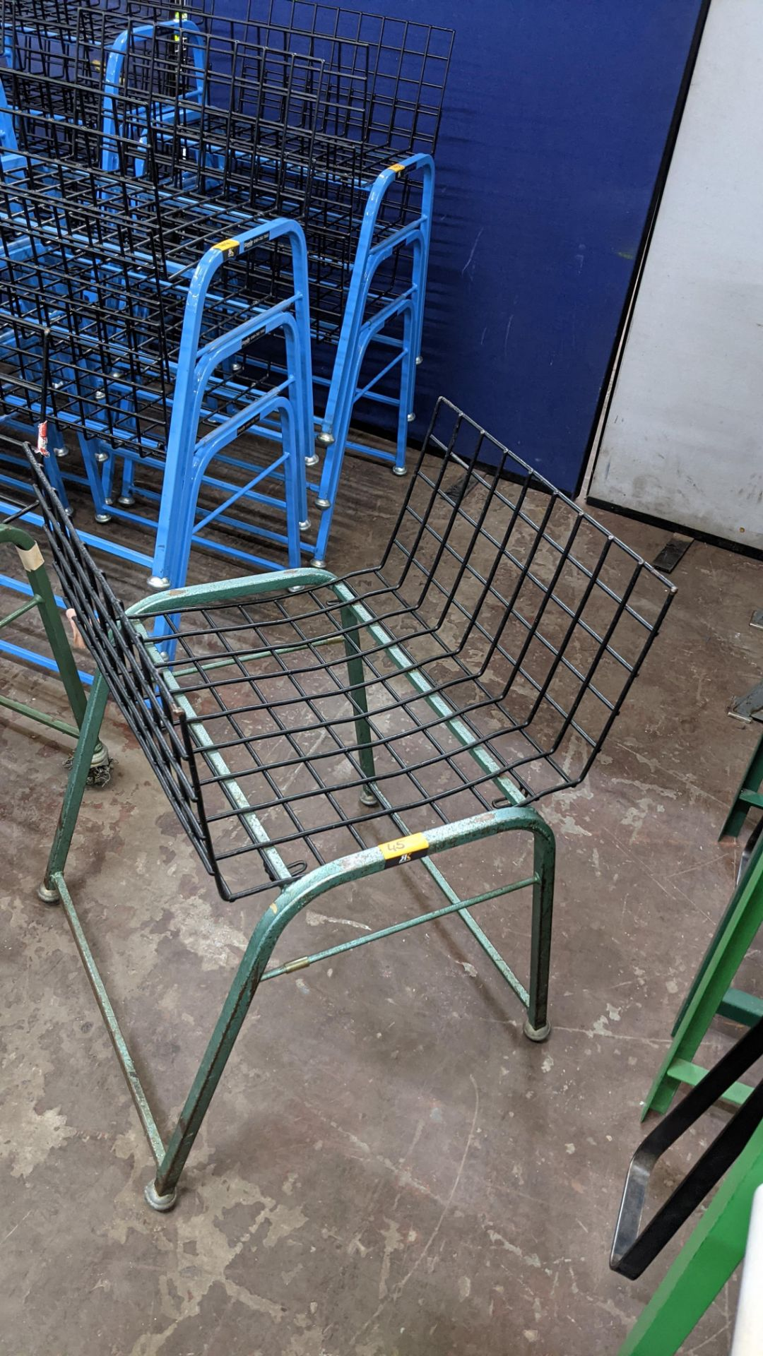 4 off matching green stacking Steely mobile machinists baskets - Image 4 of 5