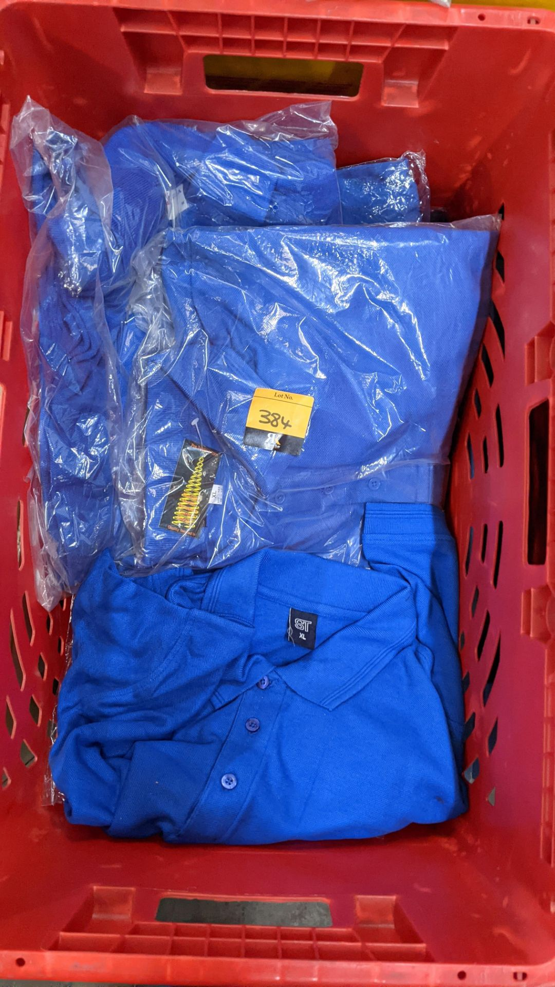 Approx 17 off bright blue polo shirts - Image 4 of 4