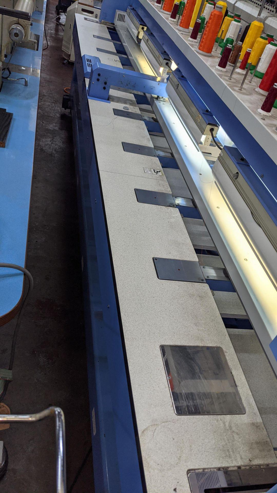 Happy 8 head embroidery machine, model HCG-1508B-45TTC, 15 needles per head, including frames & othe - Image 26 of 32