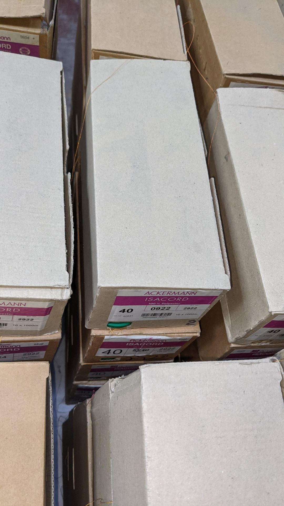20 boxes of Ackermann Isacord (40) polyester thread - Image 5 of 9