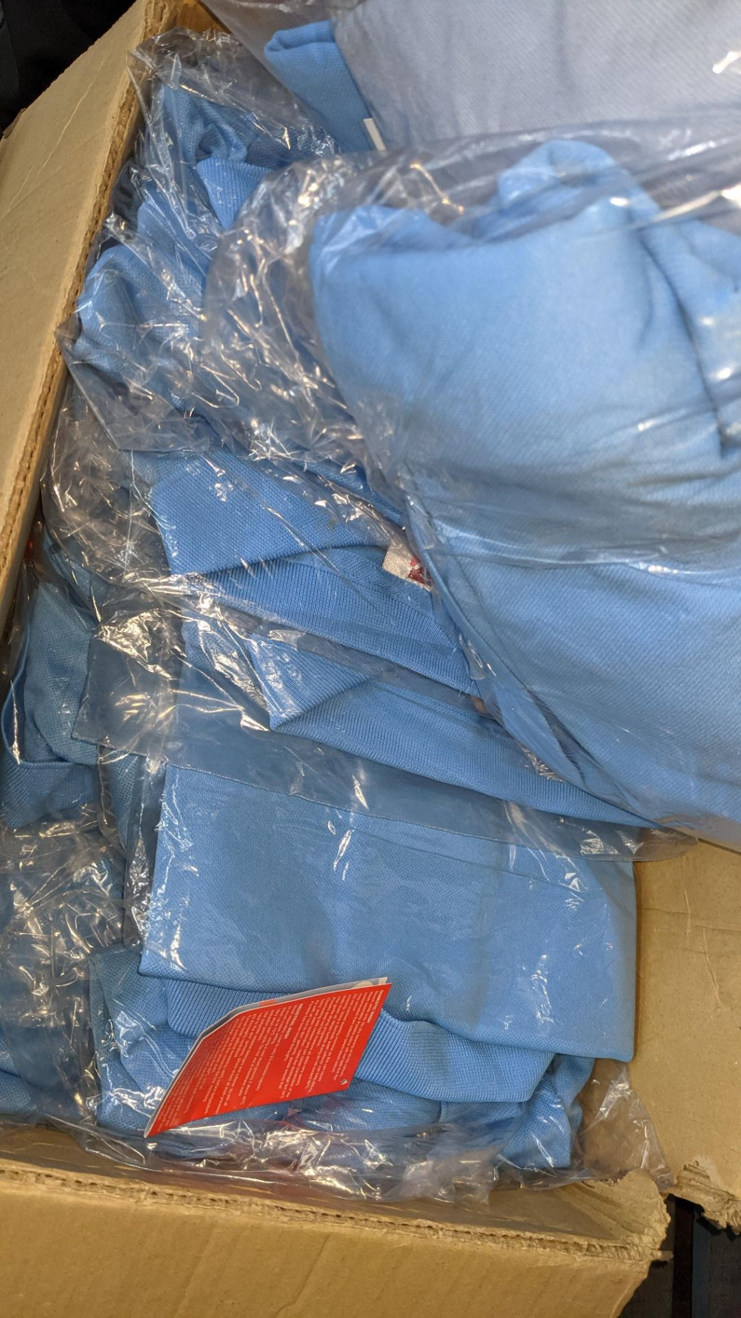 Approx 25 off pale blue polo shirts - Image 5 of 5