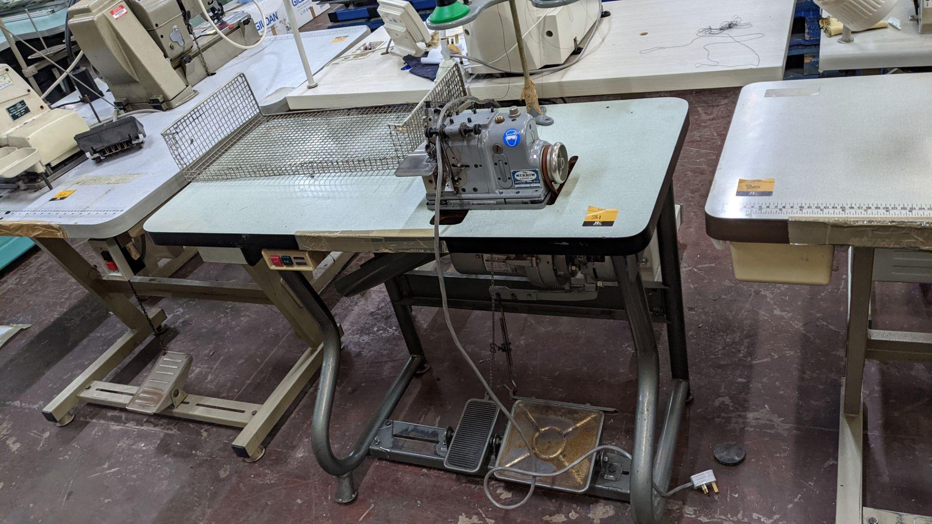 Merrow sewing machine, model M-30 - Image 2 of 14