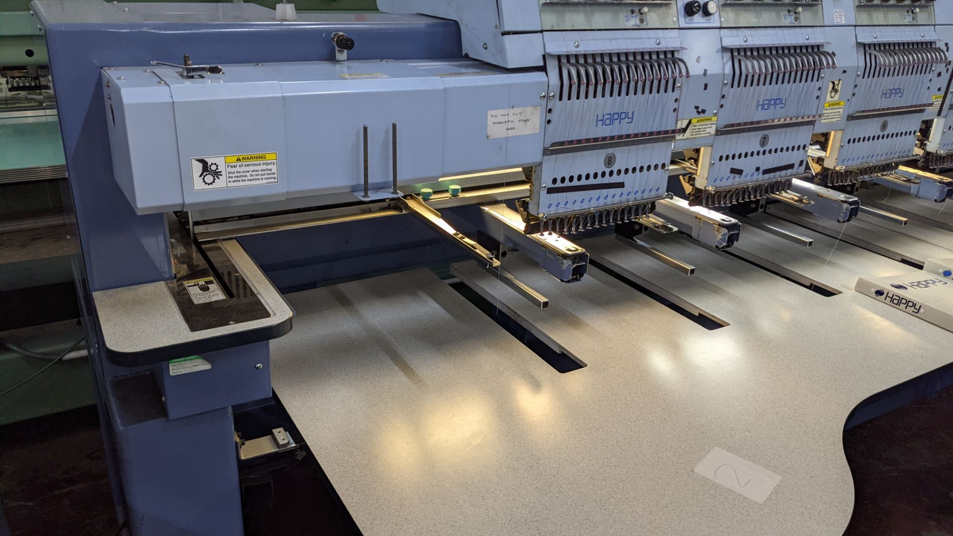 Happy 8 head embroidery machine, model HCG-1508-45TTC, 15 needles per head, including frames & other - Image 12 of 27