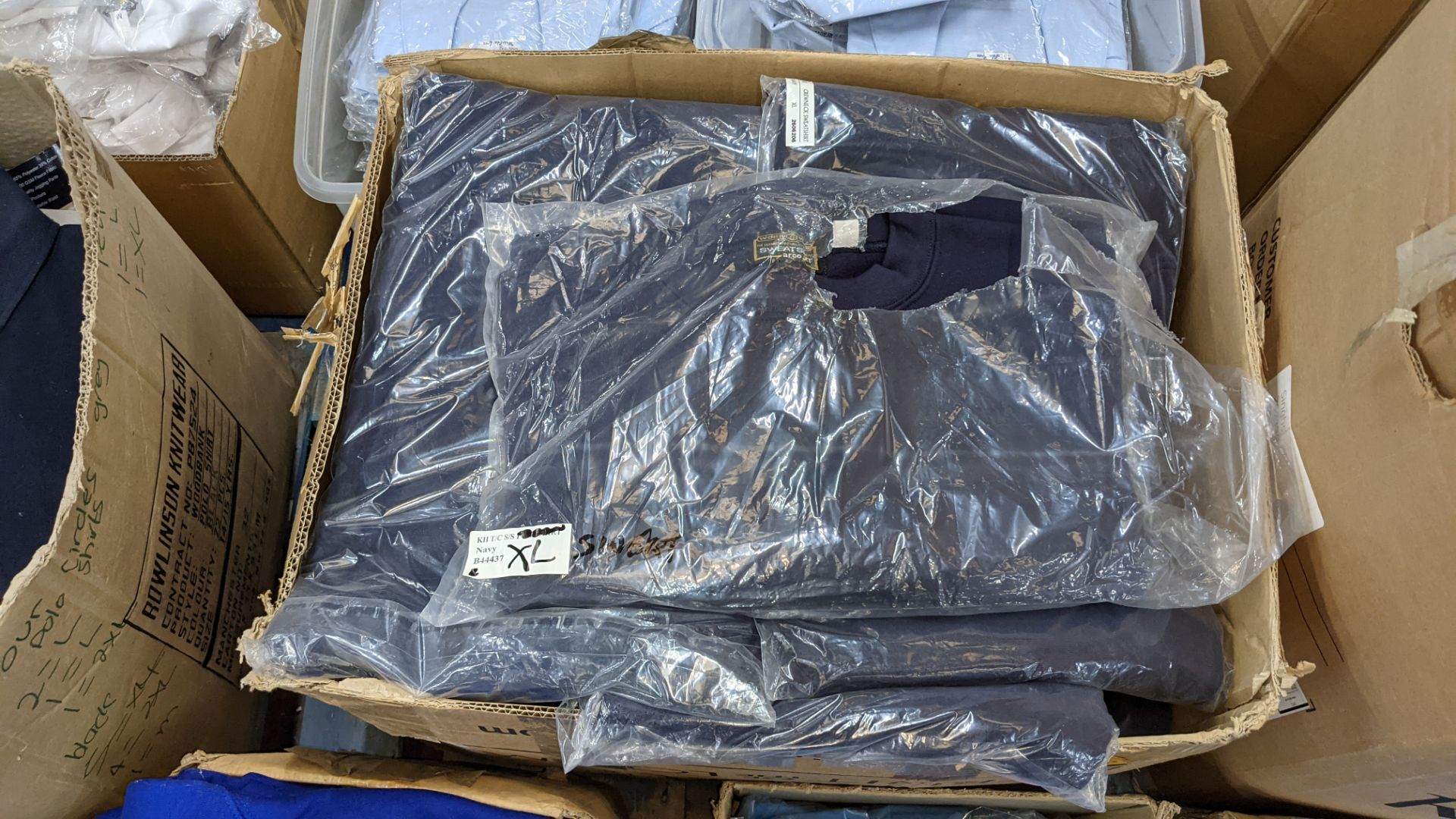 Approx 27 off blue sweatshirts - 1 large box - Image 3 of 5