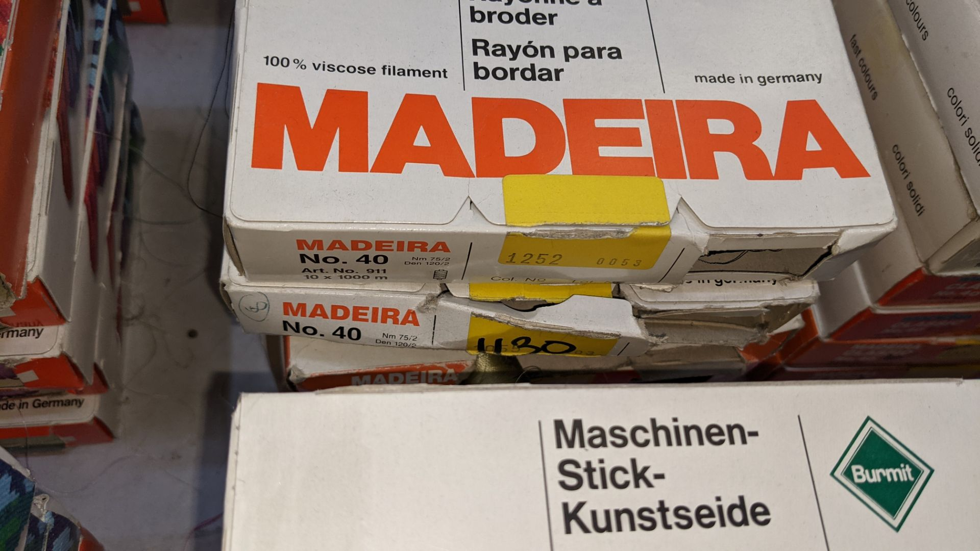 30 boxes of Madeira Classic No. 40 rayon embroidery thread - Image 6 of 12