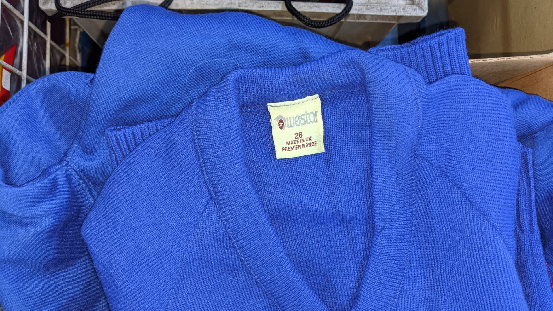 Box of blue V neck children's sweatshirts & button up tops - Image 4 of 4