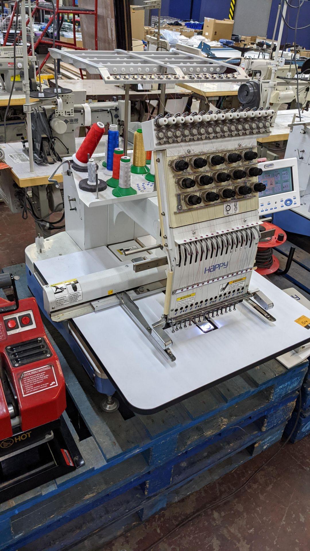 Happy single head embroidery machine model HCD-1501-40 - Image 10 of 22