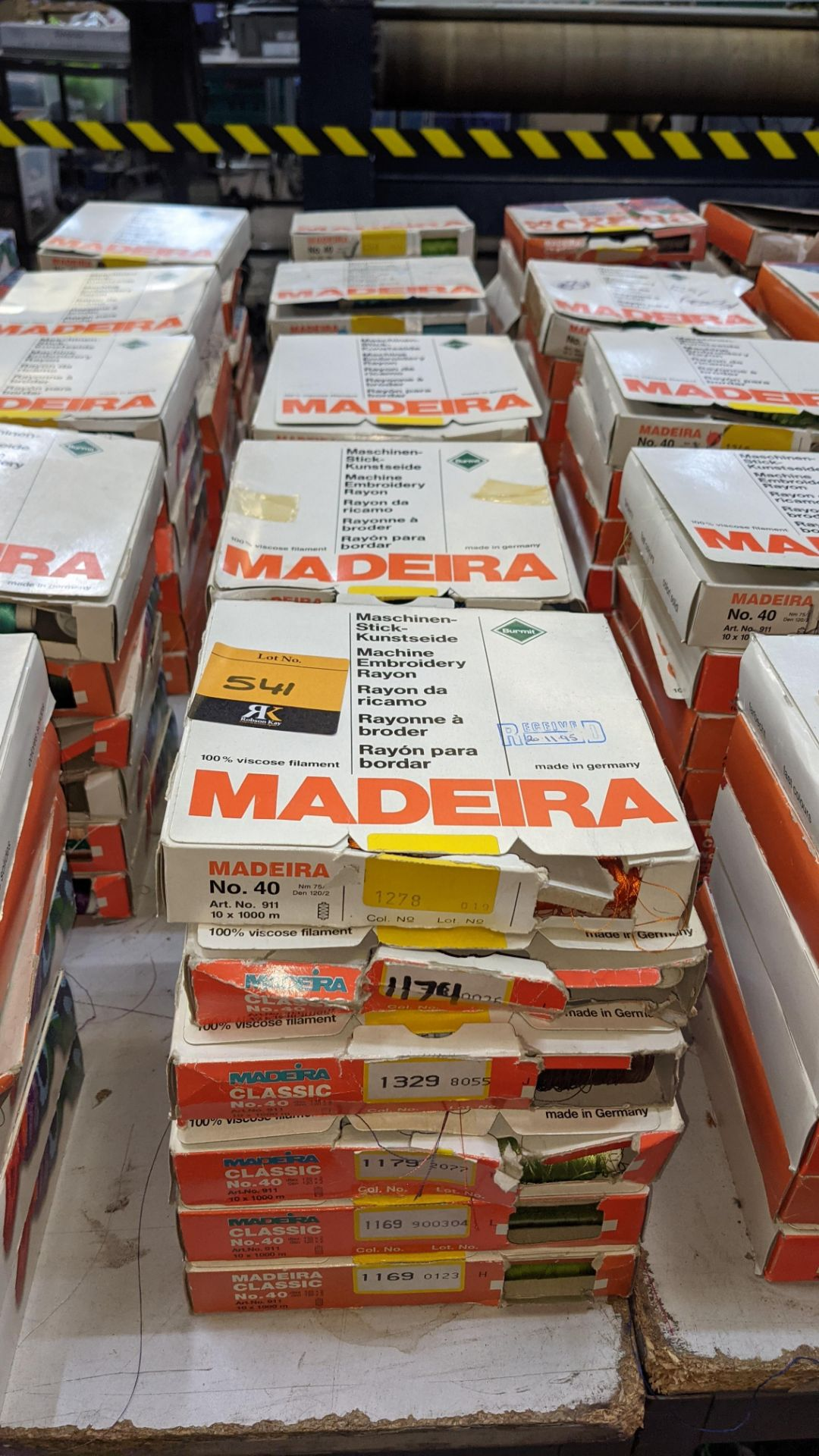 30 boxes of Madeira Classic No. 40 rayon embroidery thread - Image 2 of 12