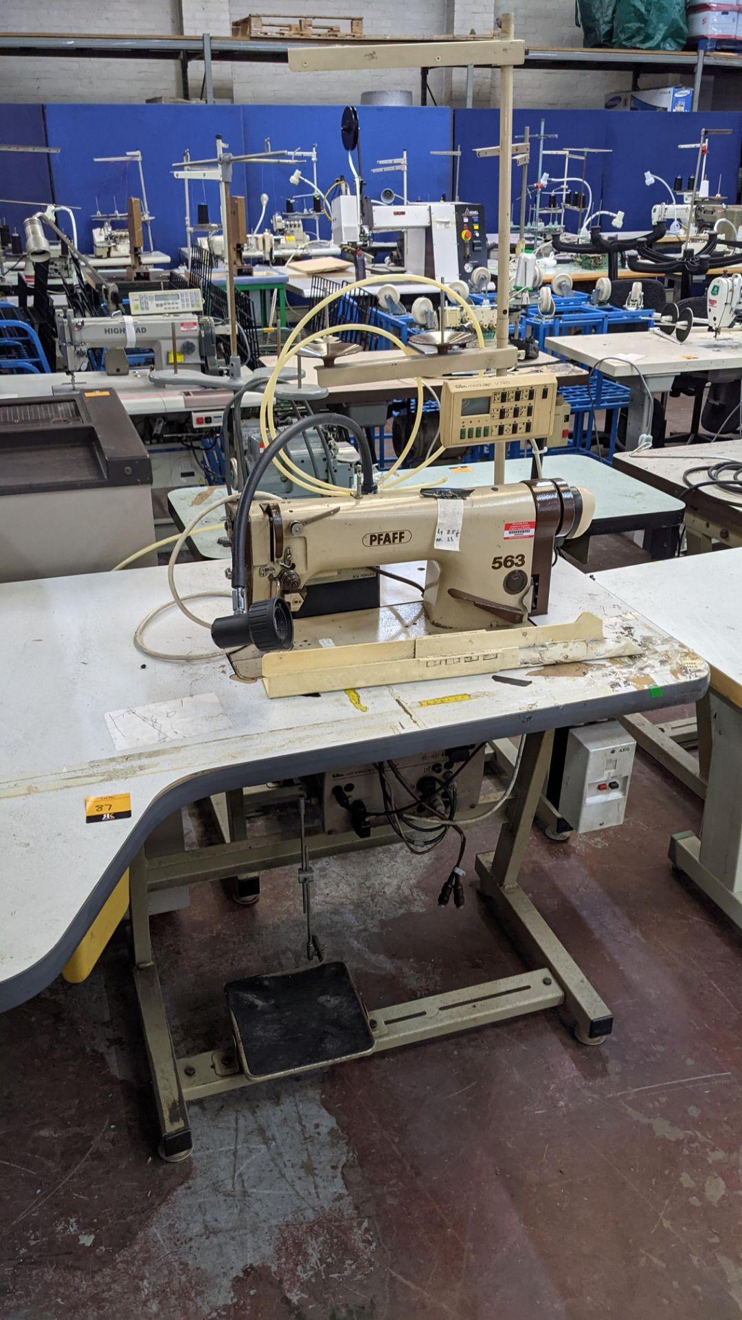 Pfaff model 563 sewing machine with Efka modular V720 digital controller - Image 13 of 13