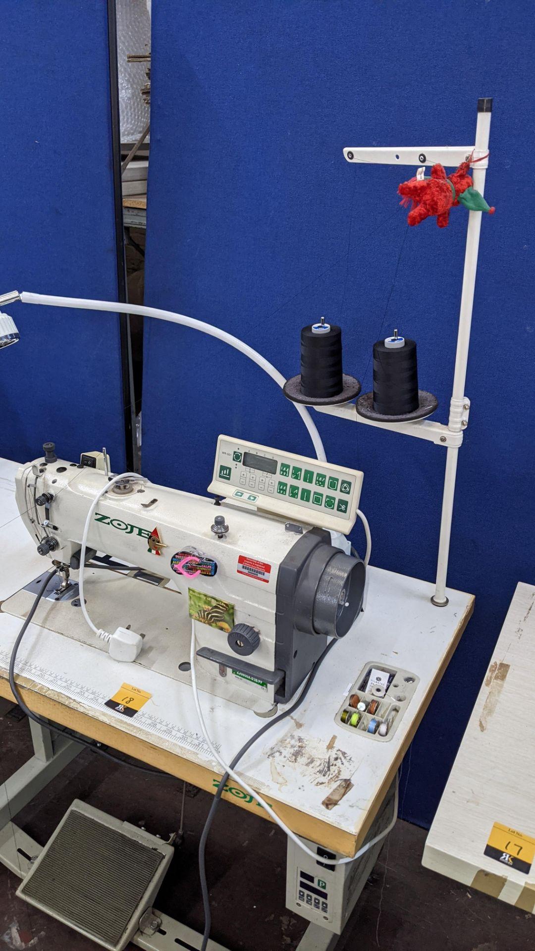 Zoje model ZJ9800A-D3B/PF lockstitch sewing machine with model WR-501 digital controller - Image 19 of 20