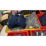 Approx 8 off assorted fleece zip up tops