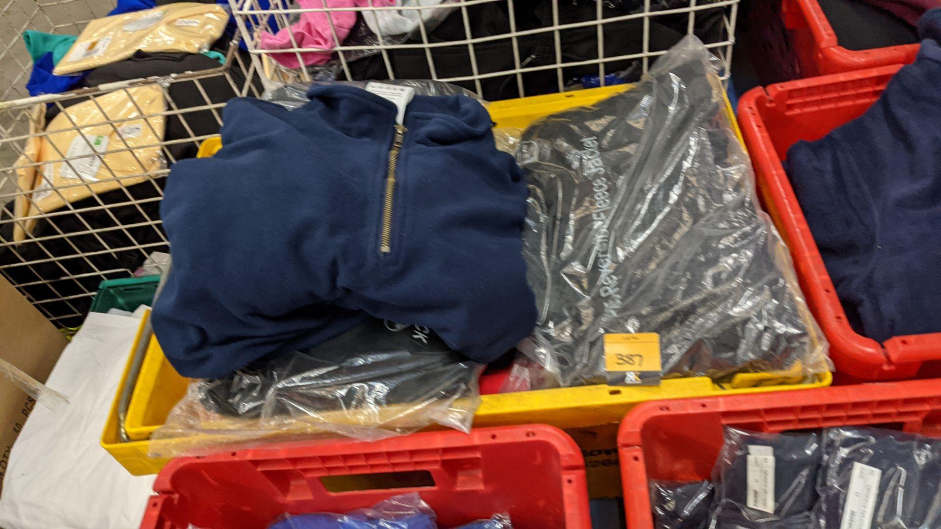 Approx 8 off assorted fleece zip up tops
