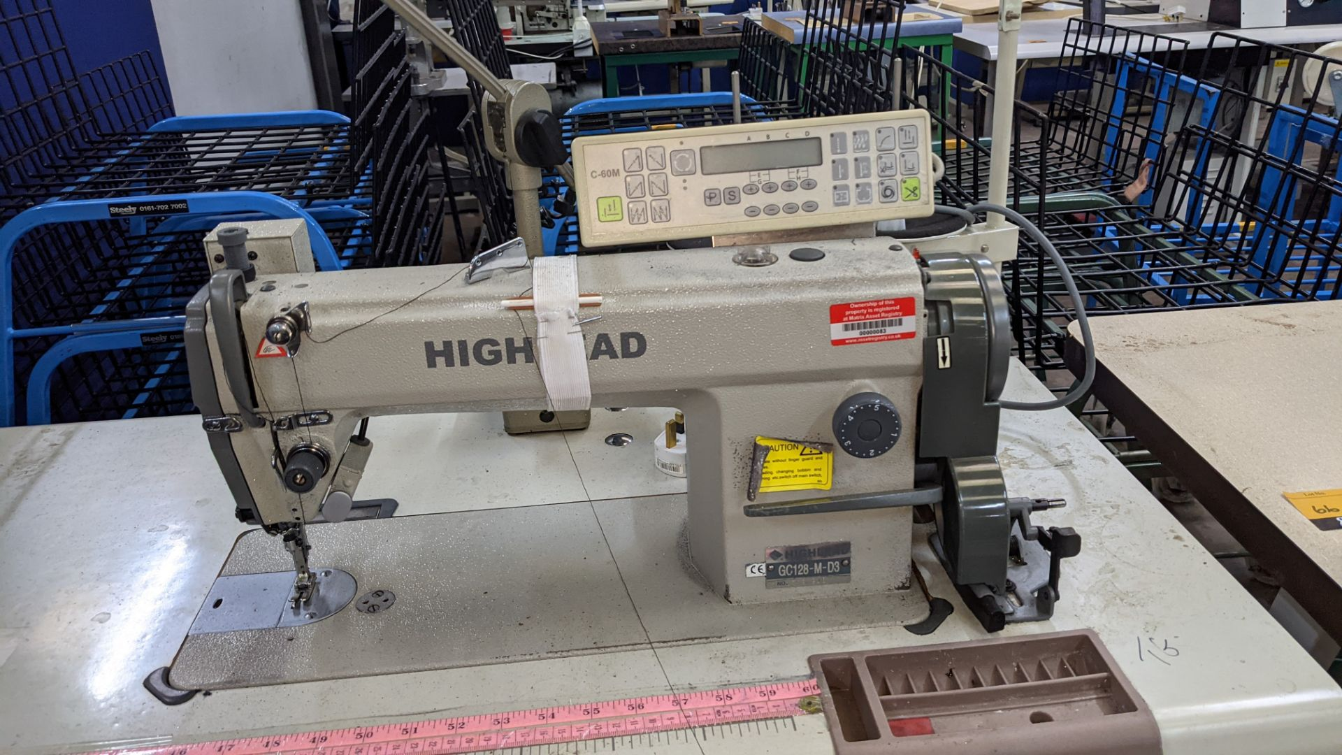 Highlead model GC128-M-D3 sewing machine with model C-60M digital controller - Image 7 of 18