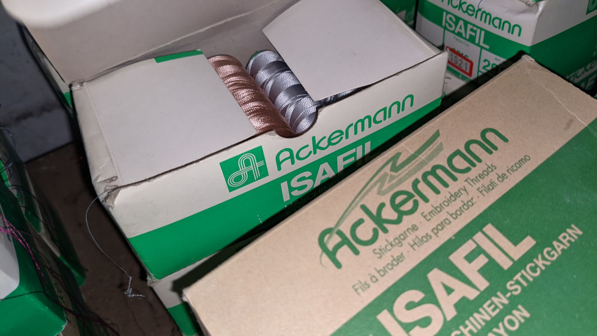 16 boxes of Ackermann Isafil viscose/rayon embroidery thread - Image 8 of 10