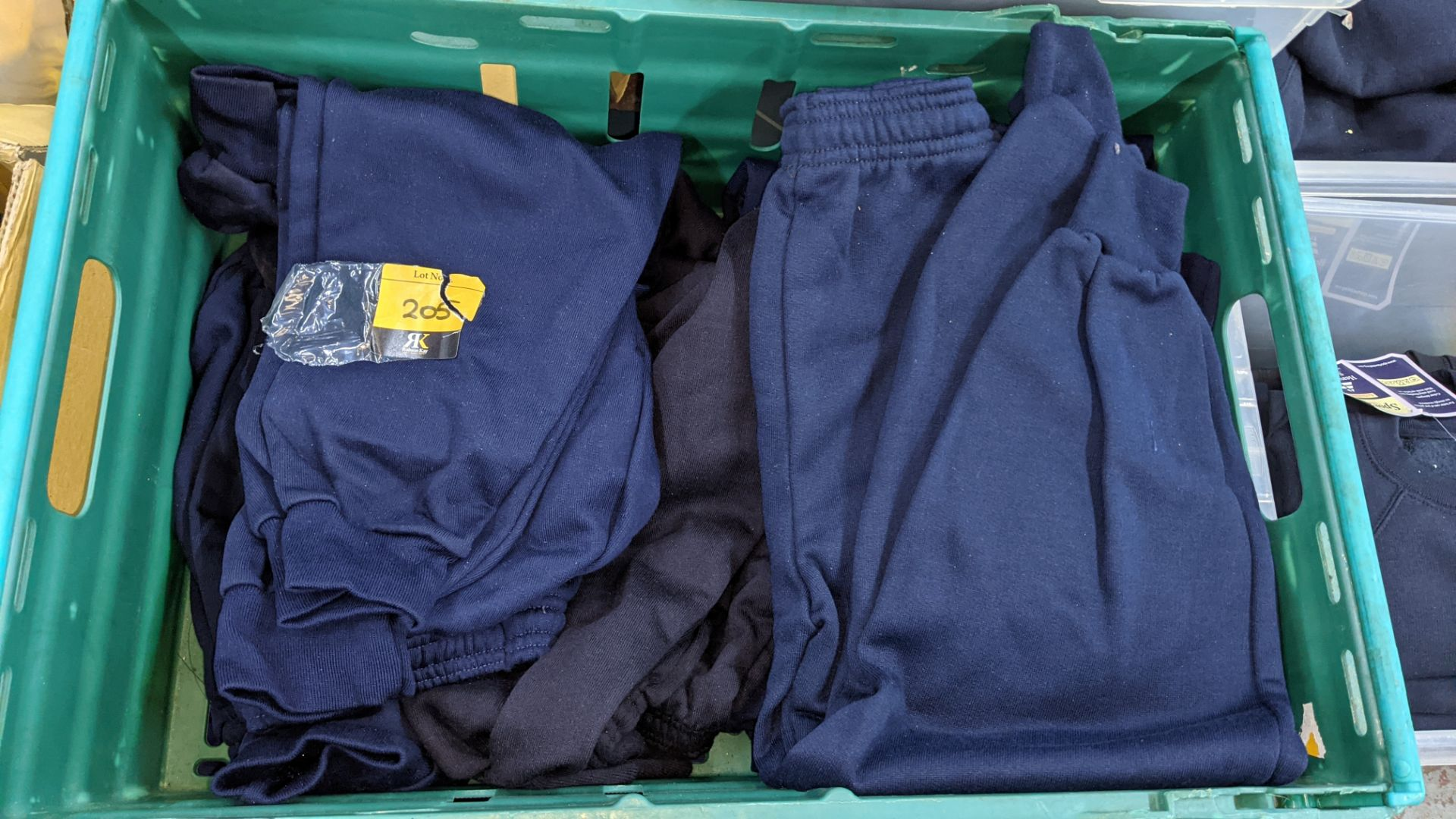 Approx 17 off children's blue tracksuit bottoms in assorted styles - the contents of 2 crates. NB c - Image 3 of 5