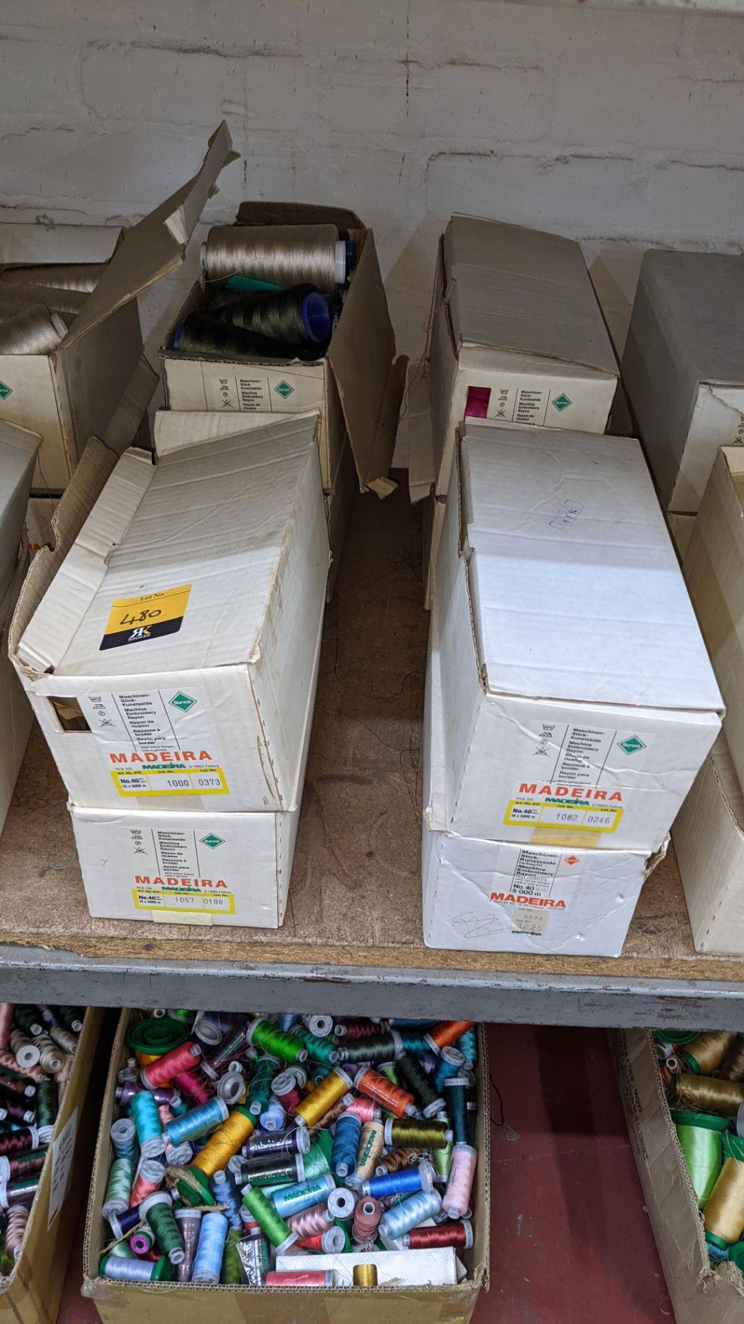 8 boxes of Madeira Burmit No. 40 rayon embroidery thread
