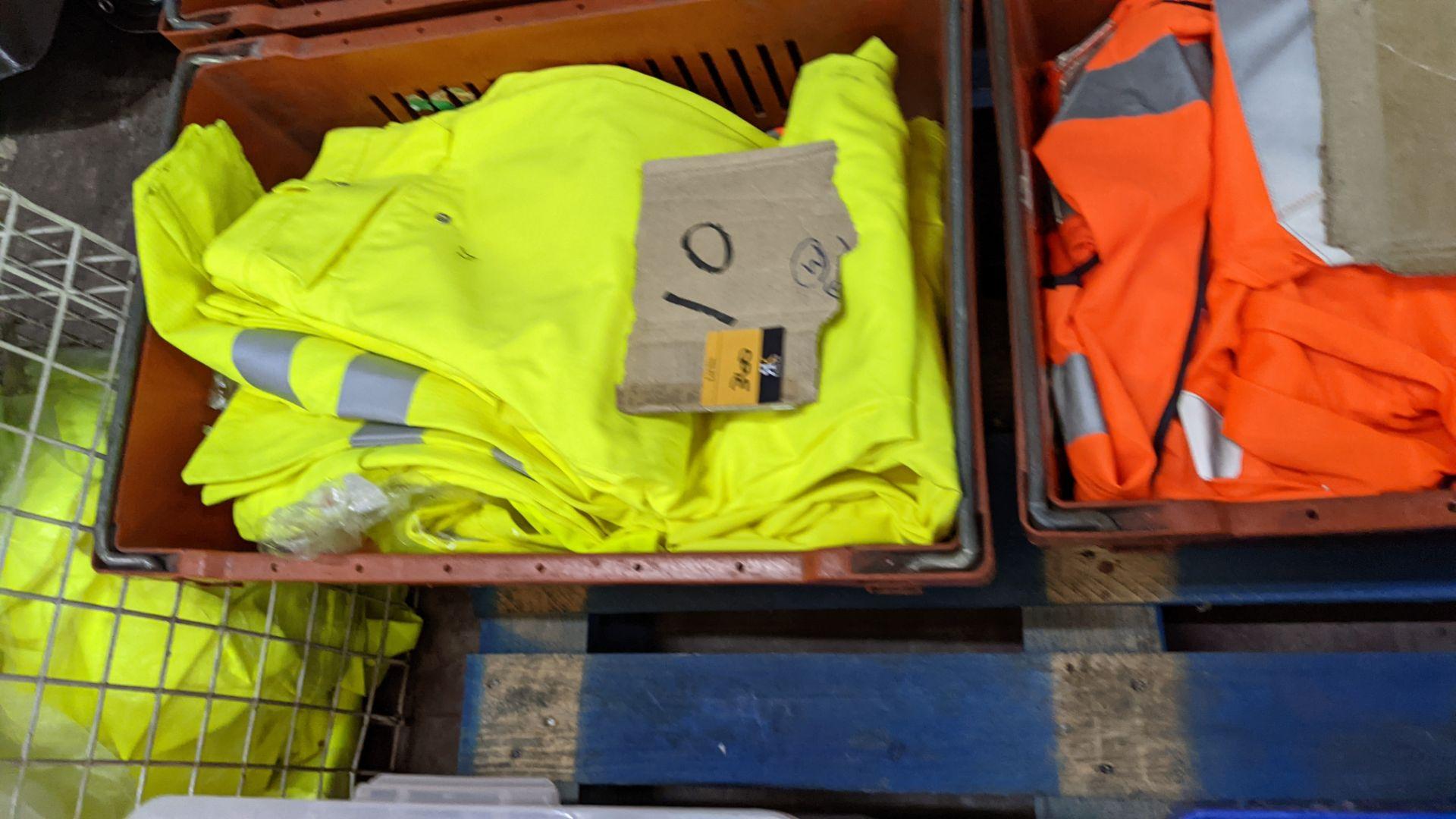 10 off hi-vis trousers in yellow & orange - Image 2 of 4