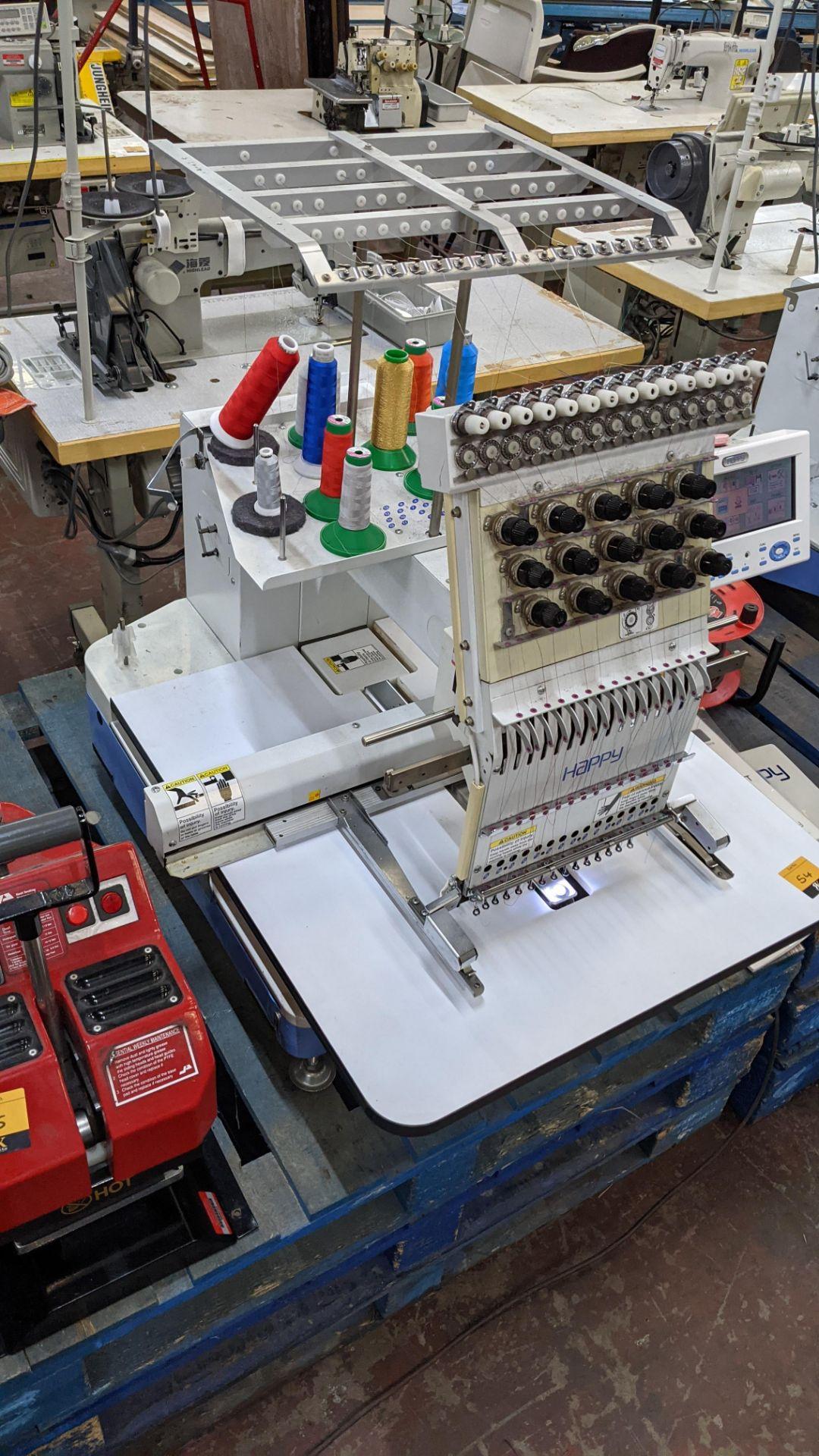 Happy single head embroidery machine model HCD-1501-40 - Image 11 of 22