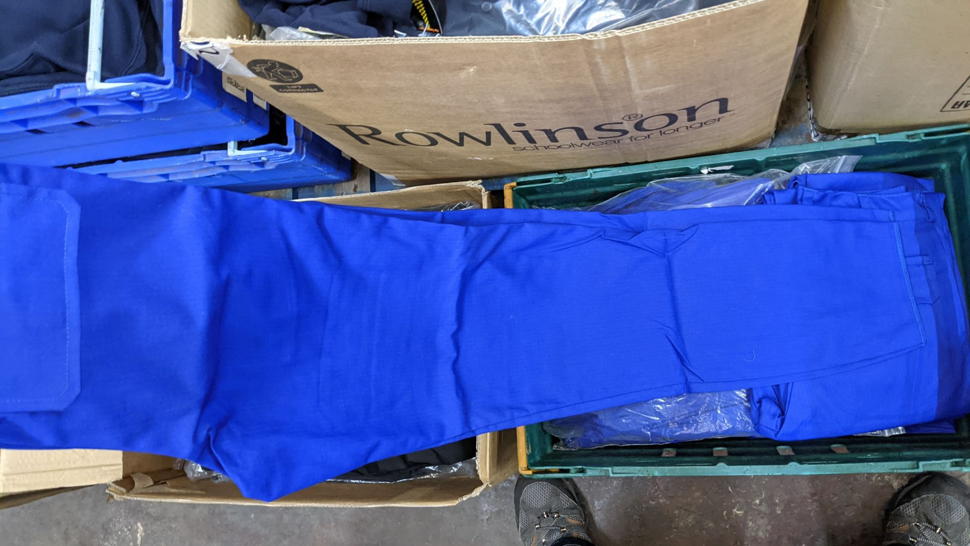 Quantity of black & blue trousers comprising the contents of 1 box & 1 crate - Image 8 of 8