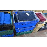 Approx 48 off children's blue sweatshirts - the contents of 3 crates. NB crates excluded