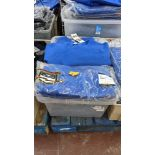 Approx 26 off blue children's sweatshirts & similar - the contents of 1 crate. NB crate excluded