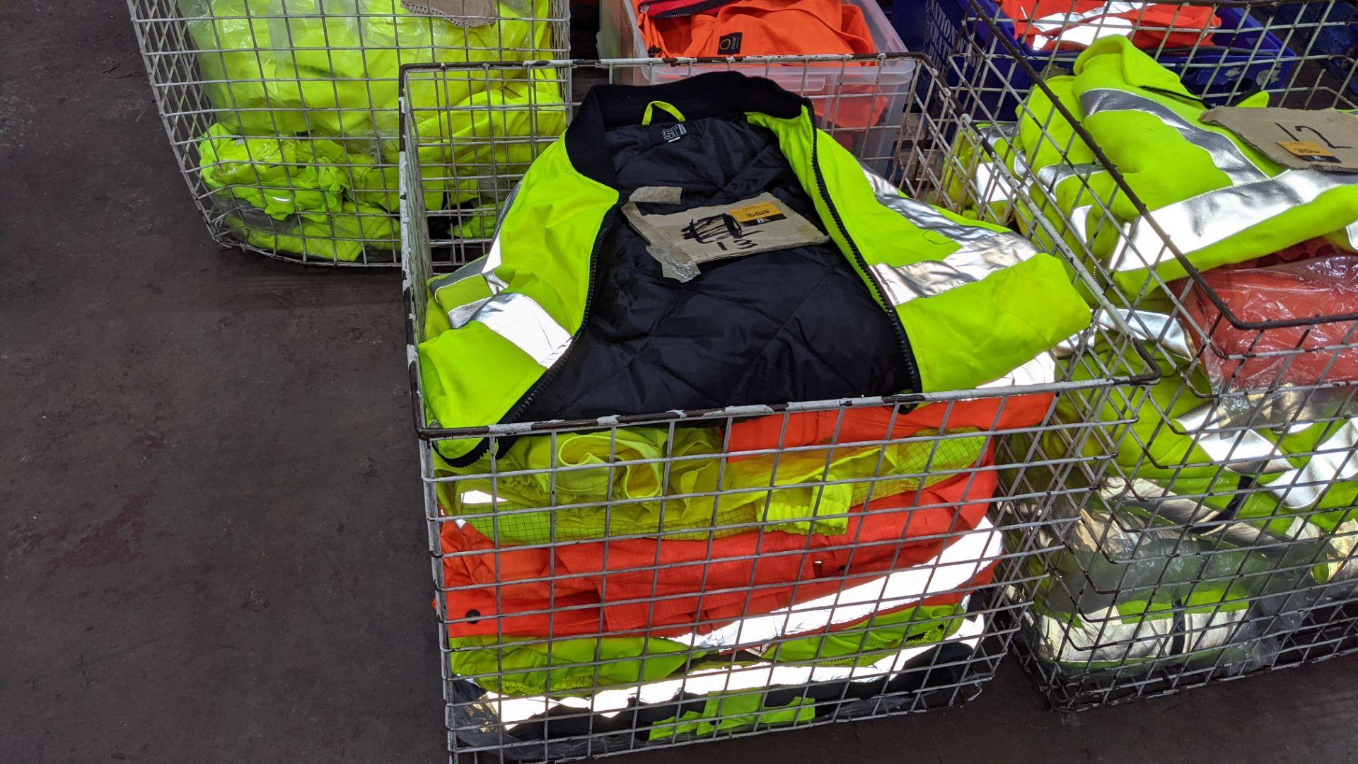 13 off assorted hi-vis jackets