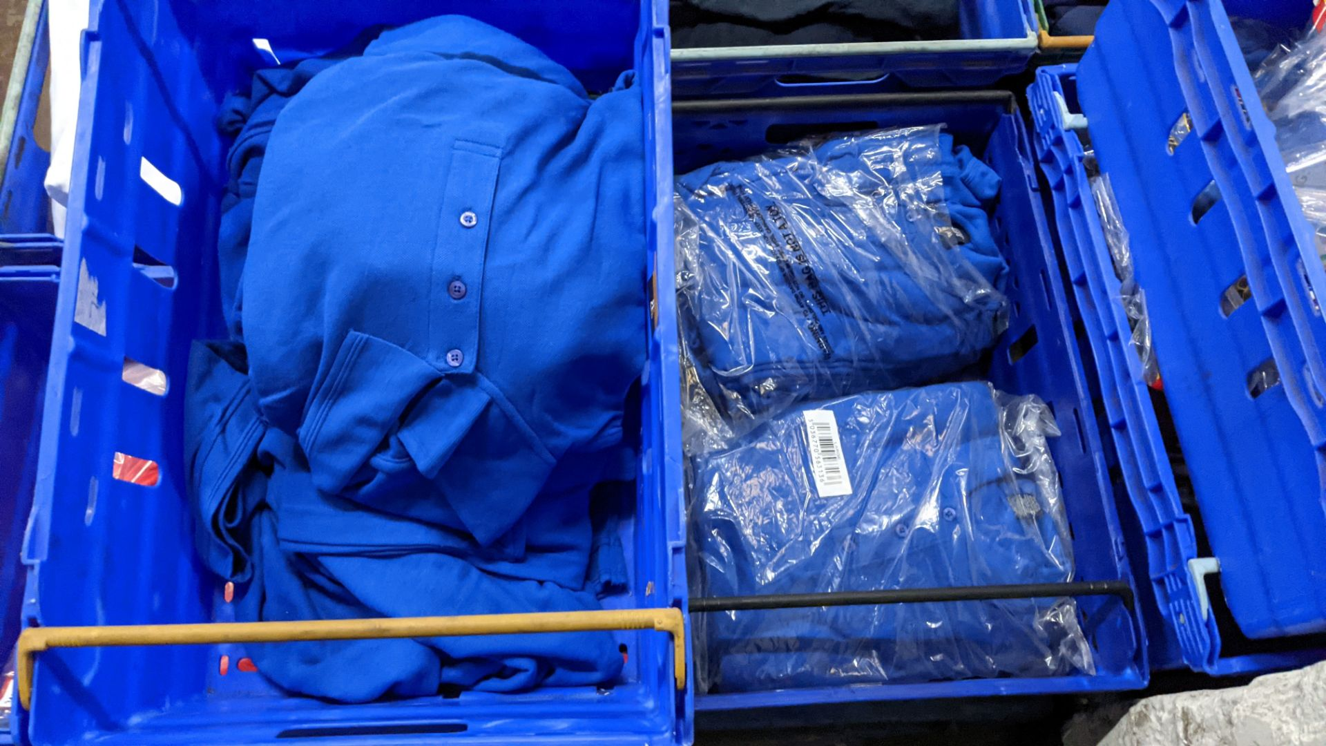 Approx 30 off royal blue polo shirts (2 crates) - Image 2 of 6
