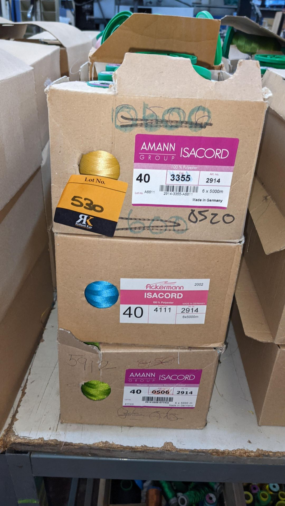 12 boxes of Ackermann Isacord (40) polyester thread - Image 3 of 8