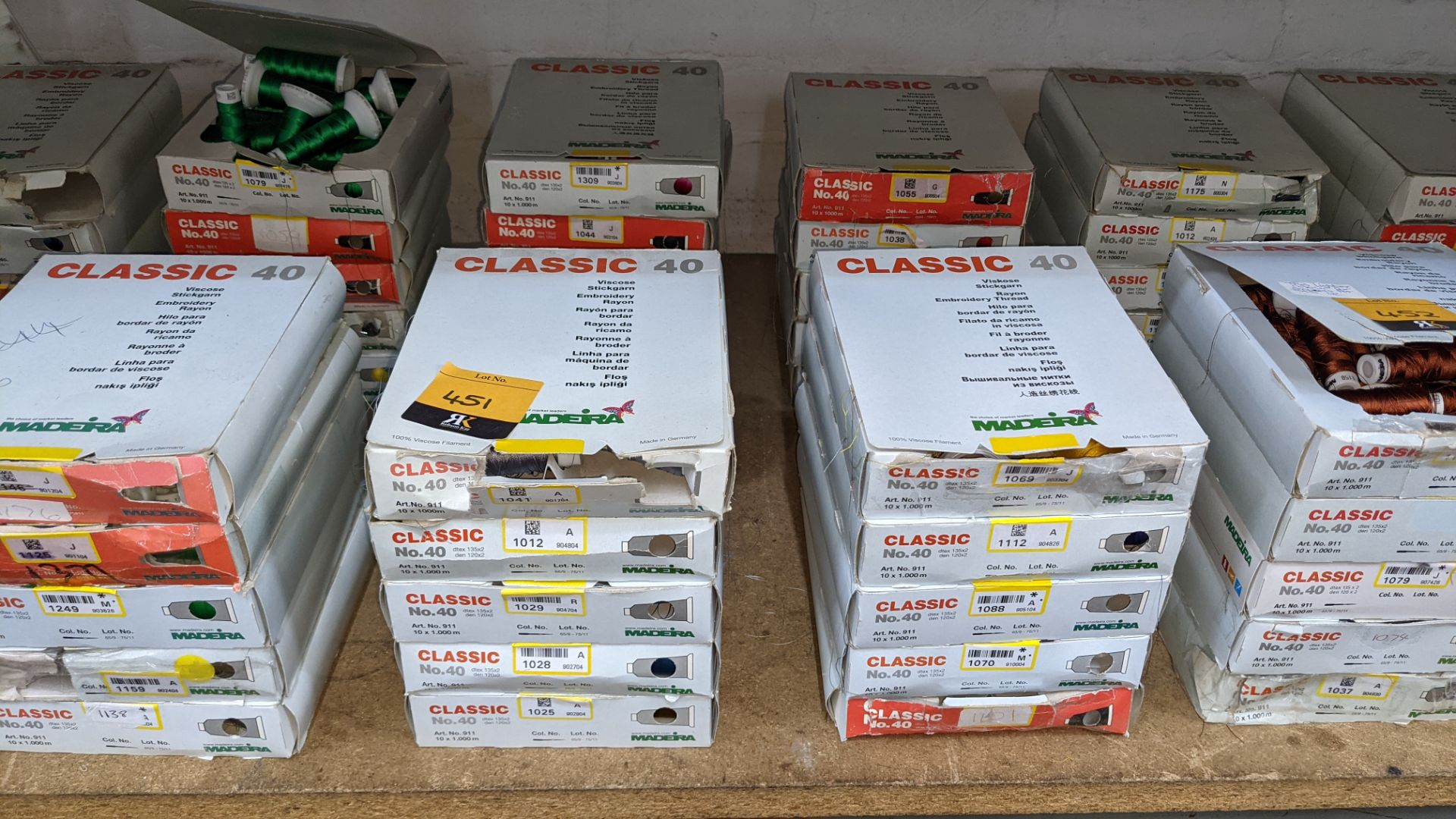 20 assorted boxes of Madeira Classic No. 40 embroidery rayon thread - Image 2 of 8